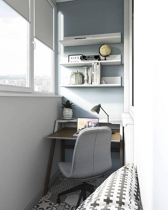 Как обустроить кабинет на балконе или лоджии в квартире?
