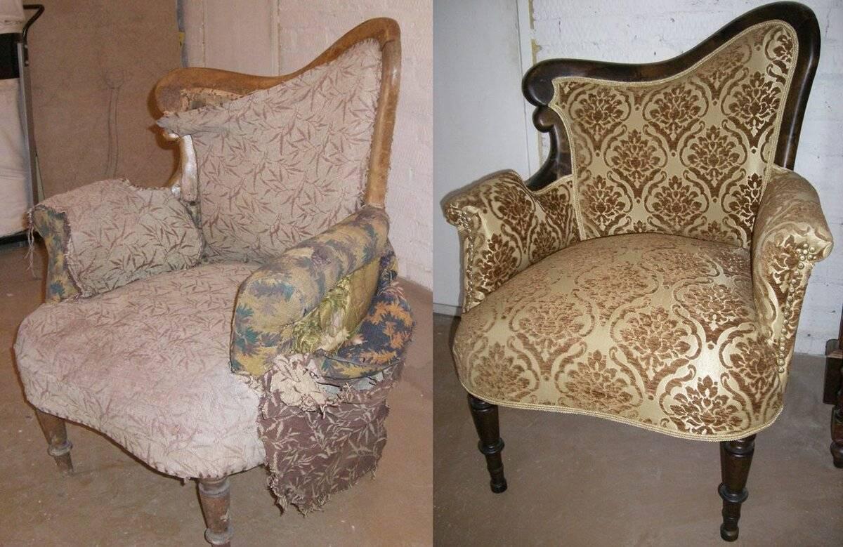 как отреставрировать старые кресла картинки