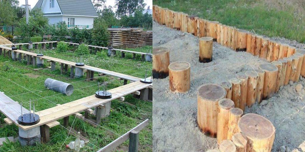 Фундамент на столбах: применение, материалы, постройка, особенности