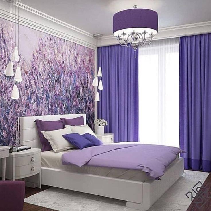 Дизайн комнаты в сиреневых тонах фото