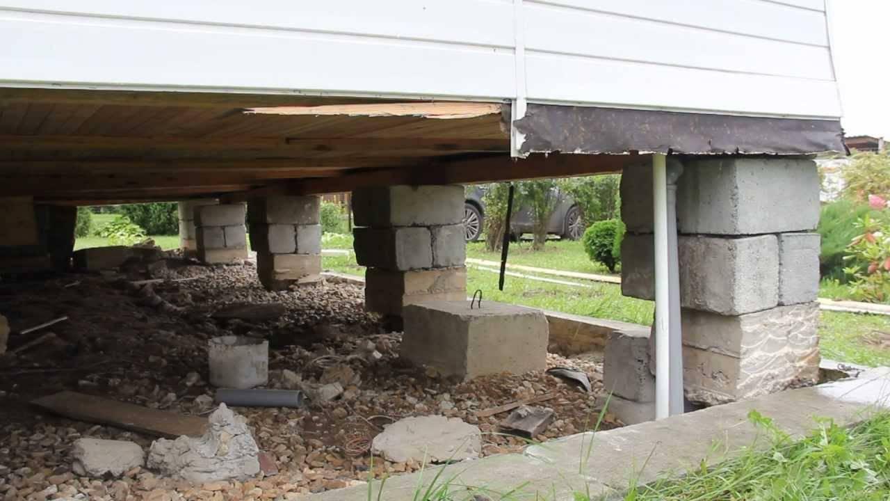 Как ремонтировать столбчатый фундамент деревянного дома