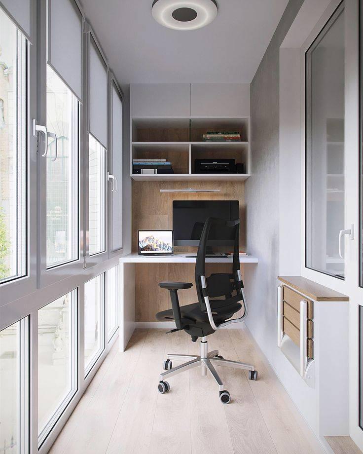 Кабинет на балконе – идеи по обустройству рабочей зоны. быстрые и легкие способы оформления офиса