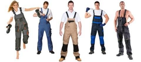 Мужские рабочие комбинезоны: виды и выбор