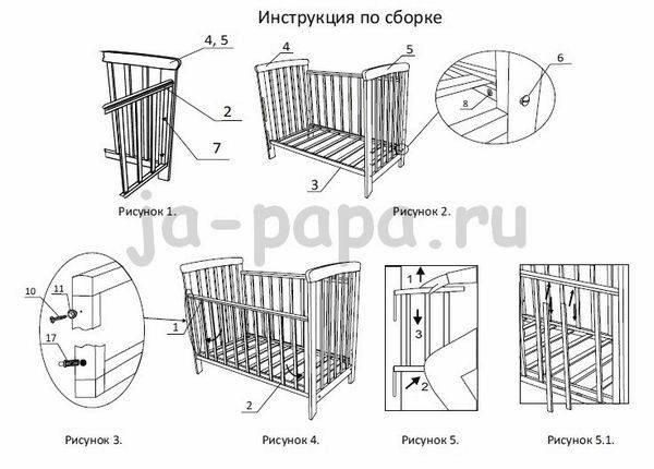 Как собрать детскую кроватку своими руками?