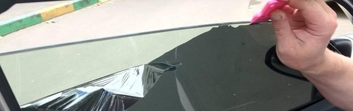 Клей на стекле от тонировки: чем очистить, эффективное и надежное средство