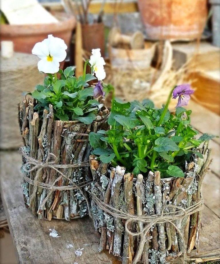 Кашпо для комнатных цветов своими руками с «нуля», декор цветочных горшков, подставки и полки для цветов