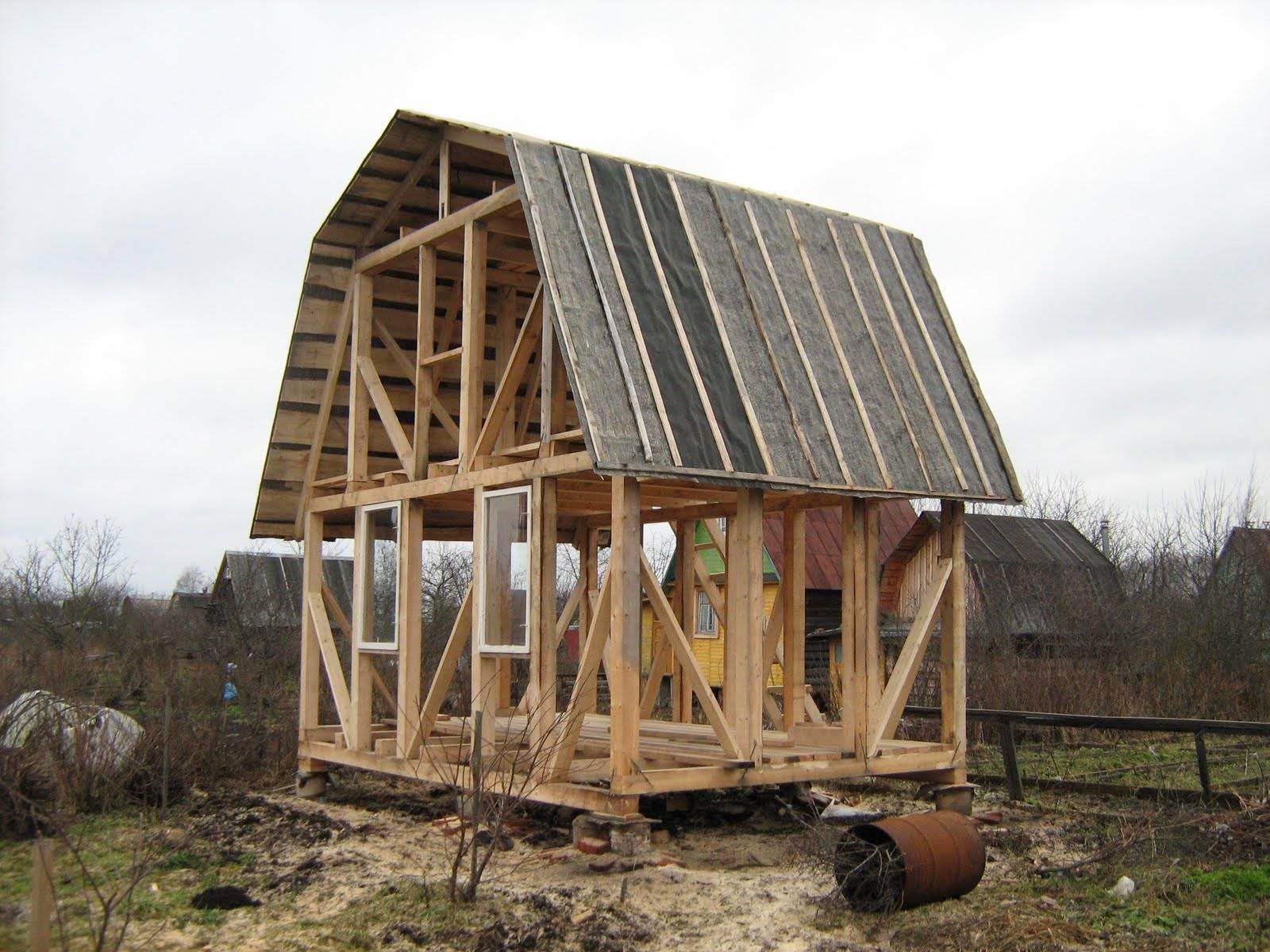 Небольшой дом своими руками пошагово с фото