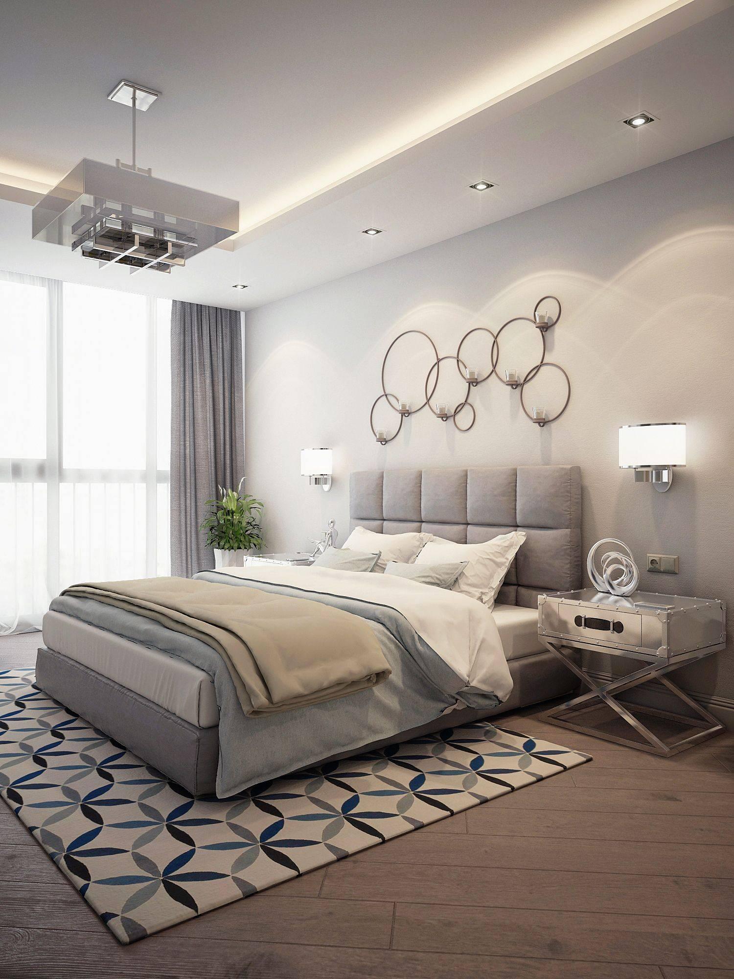 Дизайн спальной комнаты — простой интерьер