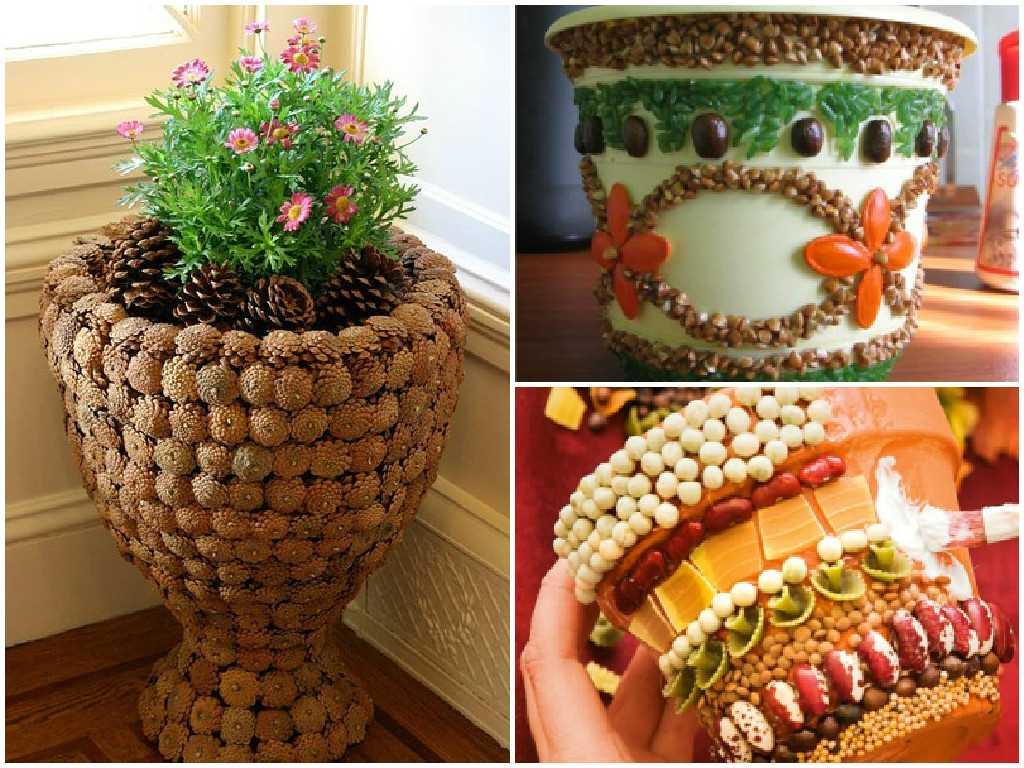 Делаем горшки для цветов своими руками