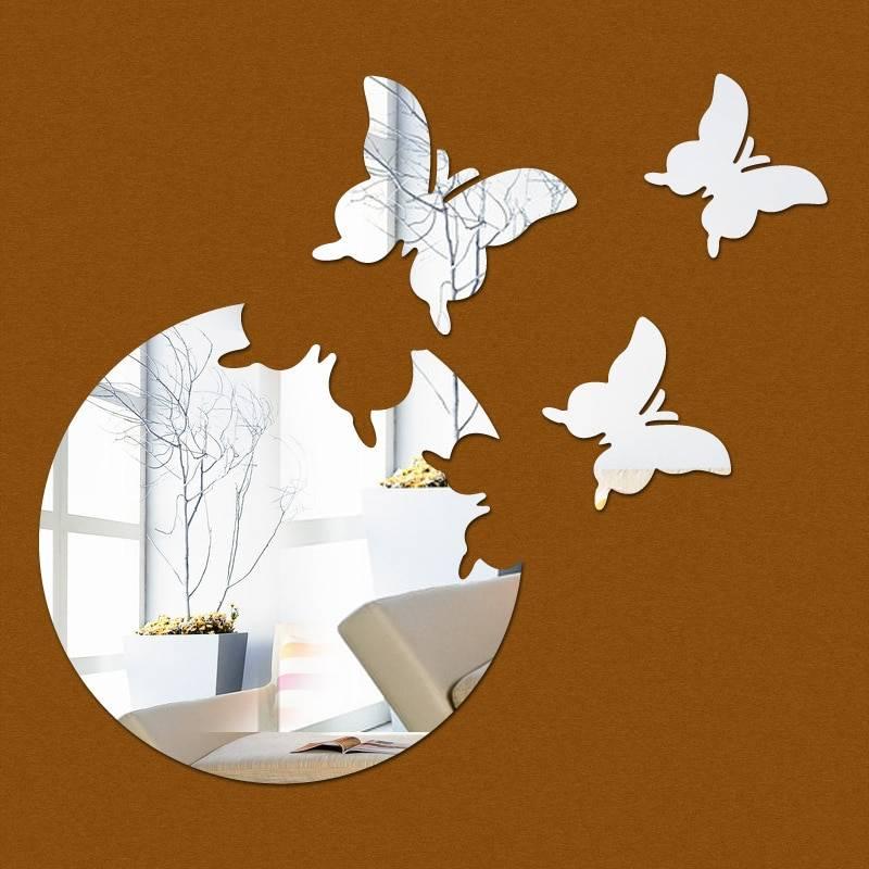 Декор бабочками на стене своими руками, в том числе зеркальными, идеи и фото