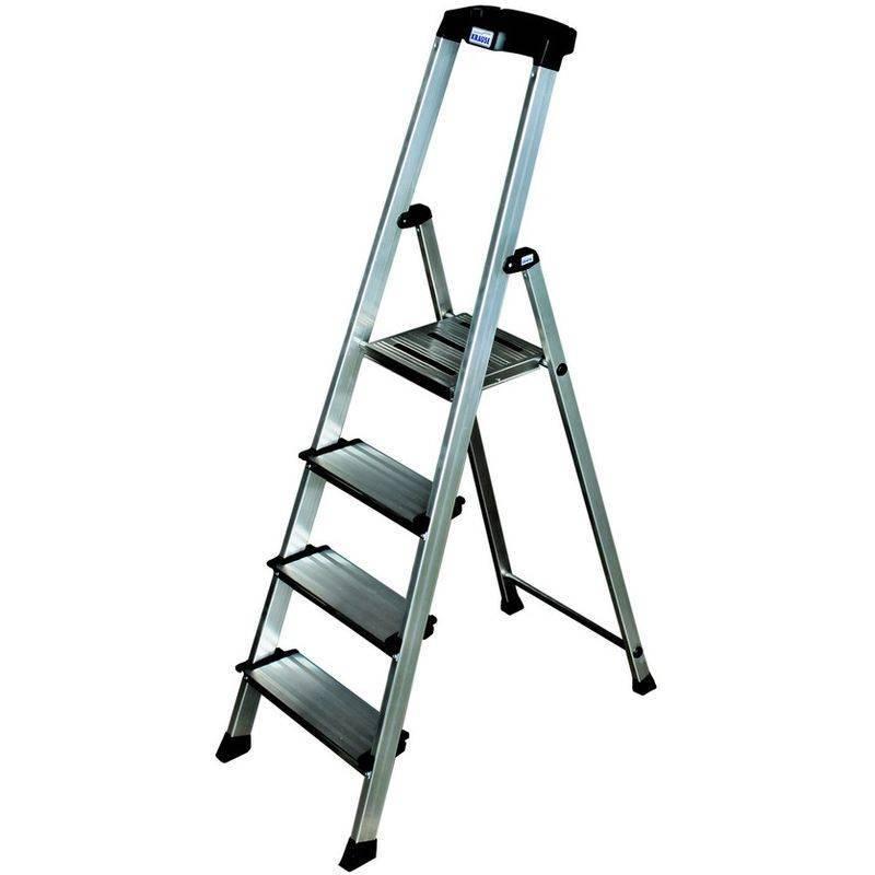 Высота стремянок: особенности алюминиевых и стальных стремянок с 6-7 ступенями и 8-10 ступенями. как выбрать двухстороннюю модель с 12-15 ступенями?