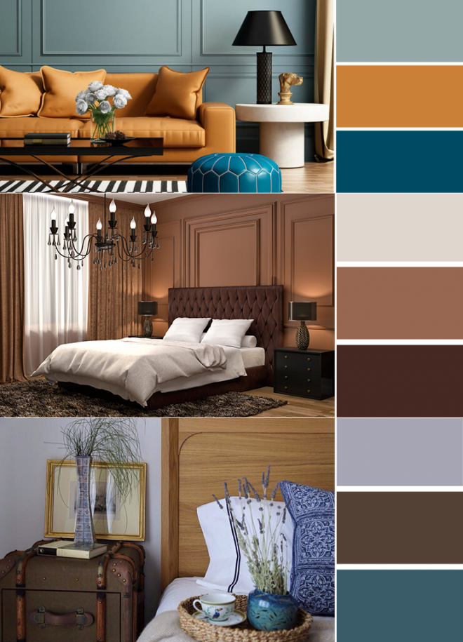 Сочетание цветов в интерьере с серым цветом – дизайн с фото и примерами