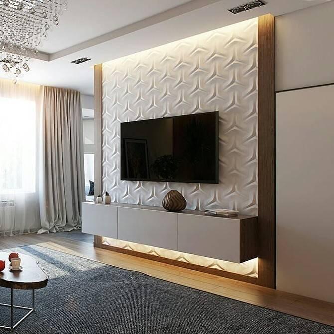 оформление стены с телевизором в гостиной фото всё то, что