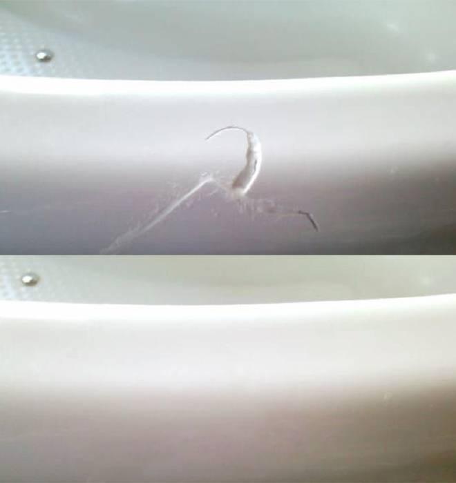 Как восстановить эмаль и убрать ее повреждения на ванне и раковине