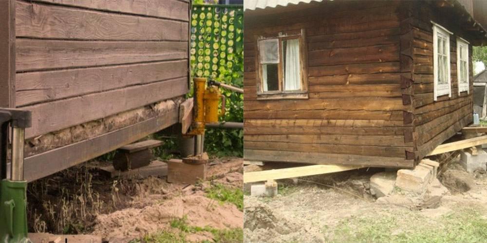 Правила ремонта фундамента деревянного частного дома