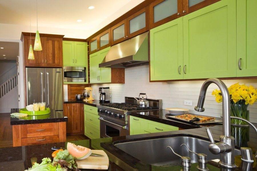 Фисташковая кухня — природное гостеприимство интерьера