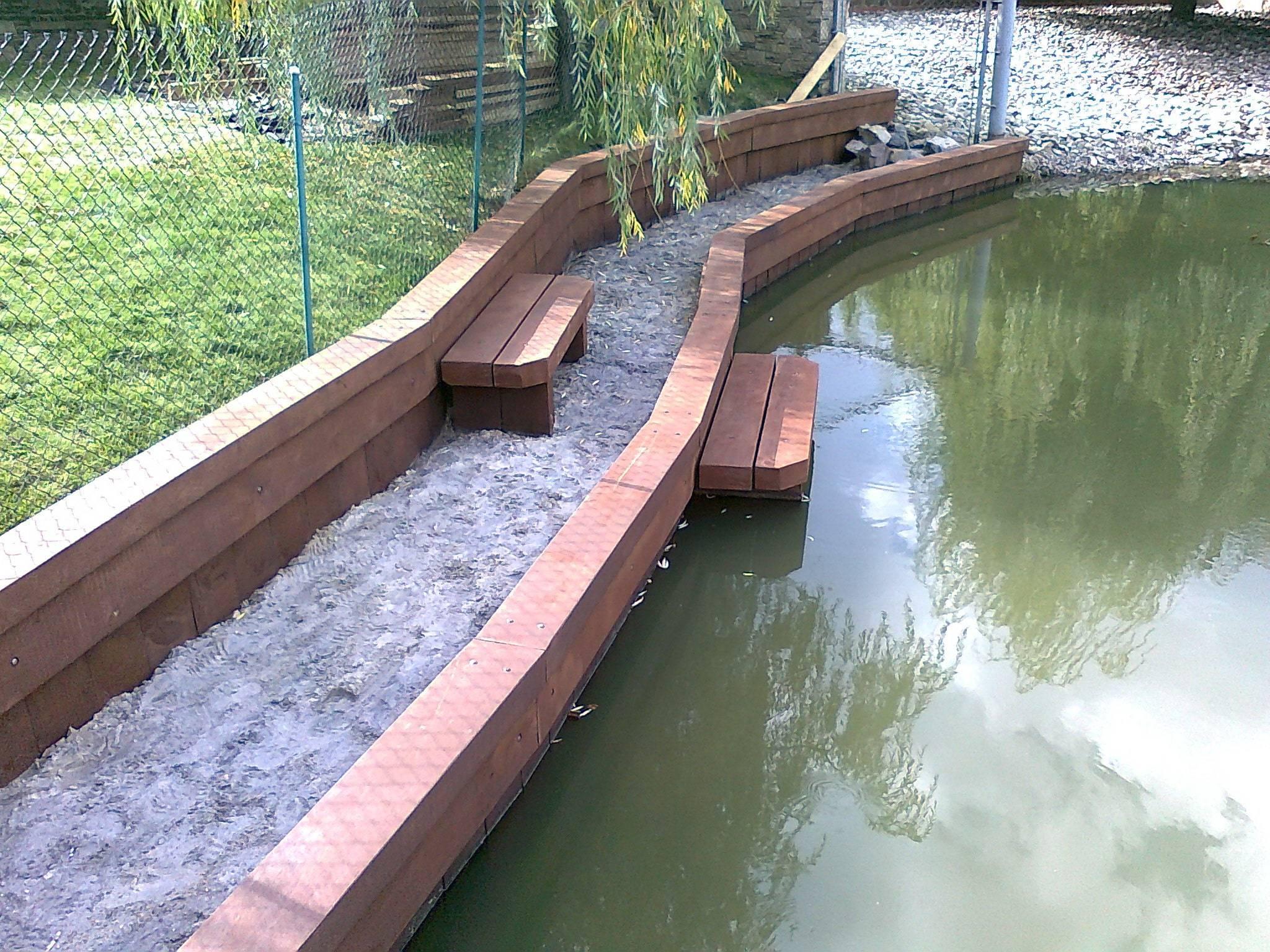 Пошаговая инструкция по укреплению берегов пруда на даче своими руками