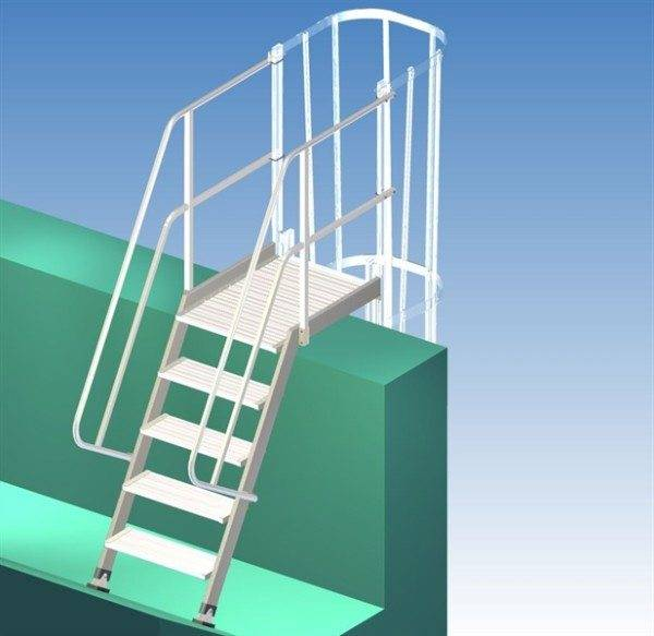 Фото откидной лестницы.