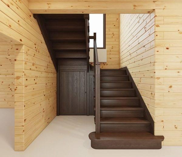Фото П-образной конструкции в деревянном доме