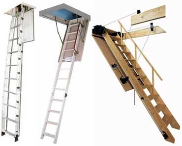 Складные чердачные лестницы: компактное решение
