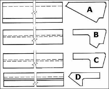 """Главное отличие несут в себе Ж Б ступени для лестниц, их форма, может, не является принципиальной, но выбор, тем не менее, делать придётся. По крайней мере, вариант """"D"""" выглядит элегантнее варианта """"A"""", если слово «элегантность» можно отнести к железобетону (описание см. в тексте)"""