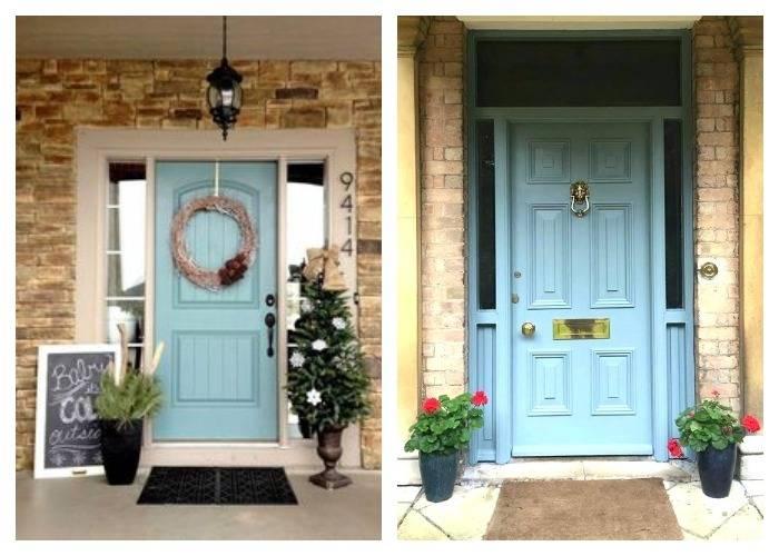Небесно голубые двери