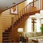 Готовая деревянная лестница