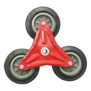 Готовая трехлучевая звездочка с установленными колесами.