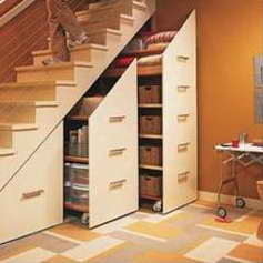 Хорошее решение для свободного пространства под лестницей