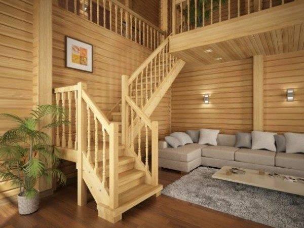 Хорошо если пространство помещения позволяет сделать полноценную лестницу.