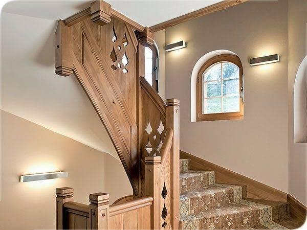 Идея светового оформления лестницы своими руками в кантри стиле