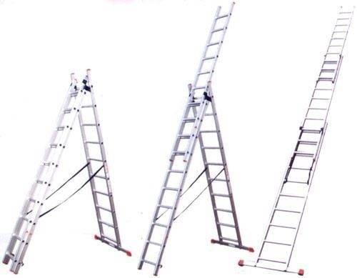 Алюминиевая трехсекционная лестница: виды, область применения