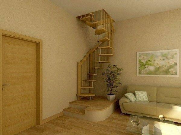 Индивидуальный дизайн компактной лестницы