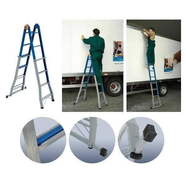 Использование в качестве стремянки и приставной лестницы.