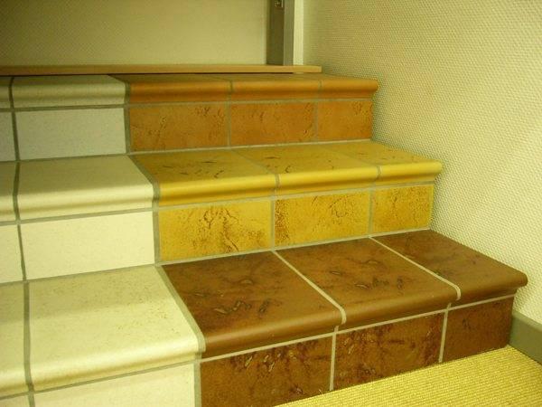 Керамические ступени в интерьере