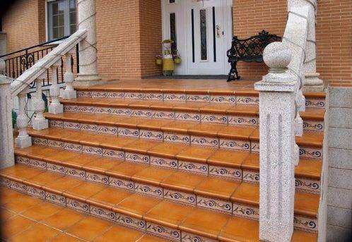 Клинкерные ступени для крыльца частного дома
