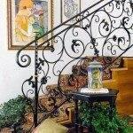 Кованное металлическое ограждение для лестницы