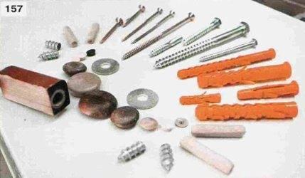 Крепежный материал, который можно использовать при монтаже
