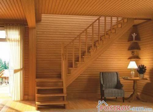 L-образная лестница.