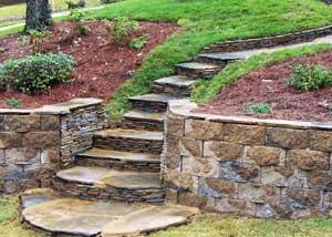 Ландшафтный вариант лестницы