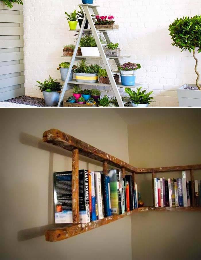 Подставка из лестницы