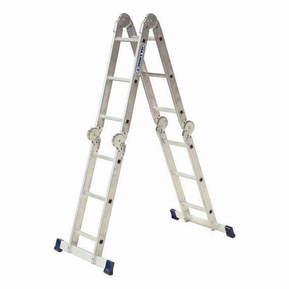 Лестница трансформер rigger 4х4 – универсальная и надежная конструкция.