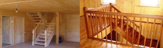Лестницы и перила из дерева – просто, но со вкусом