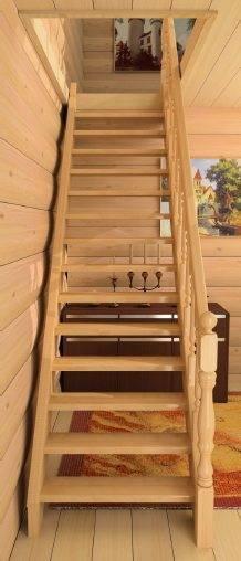 Левозаходный вариант лестницы.