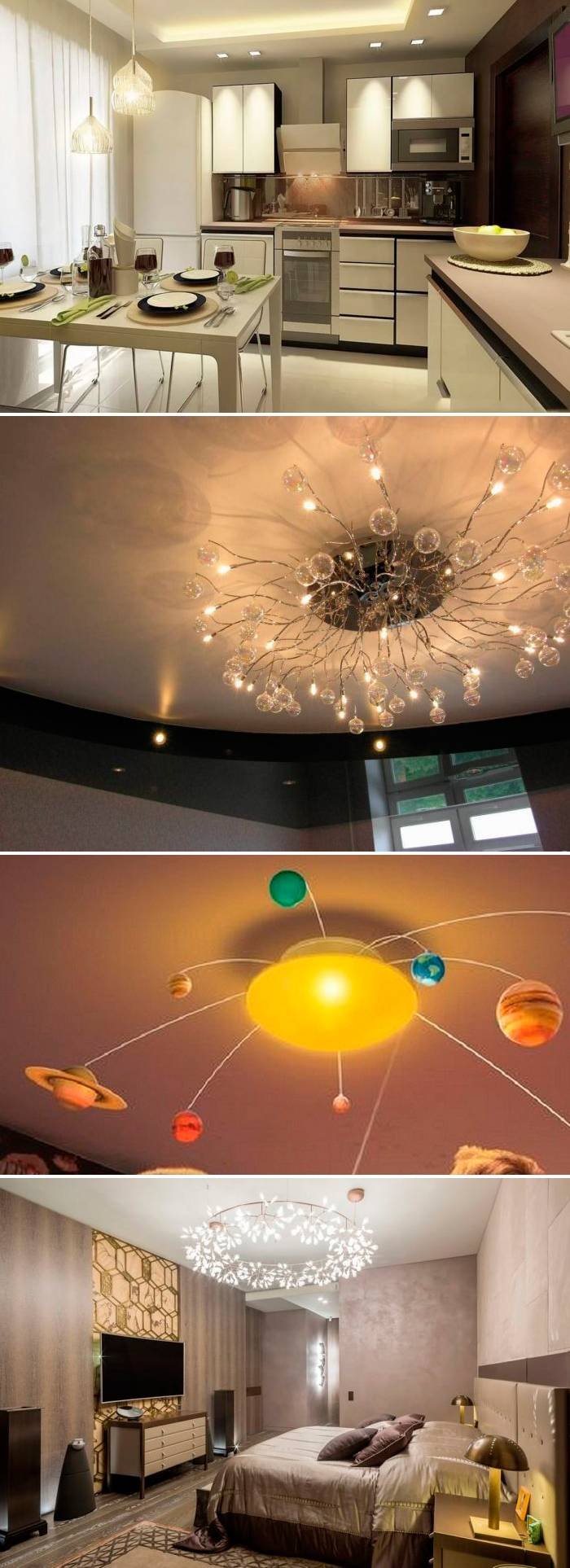 Люстры в разные помещения