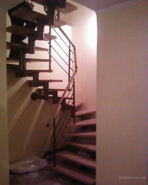 Любительское фото готовой модульной лестницы