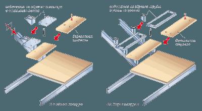Монтаж деревянных проступей на металлическую лестницу