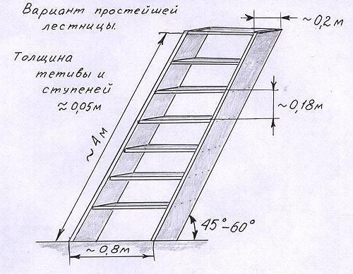 На фото - чертеж деревянной конструкции