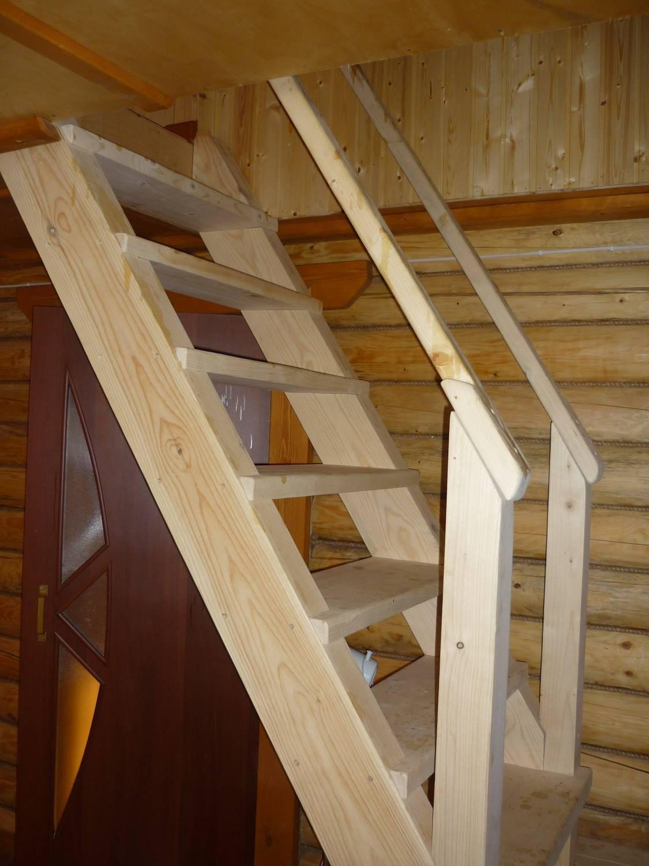 Лестница на дачу своими руками размеры