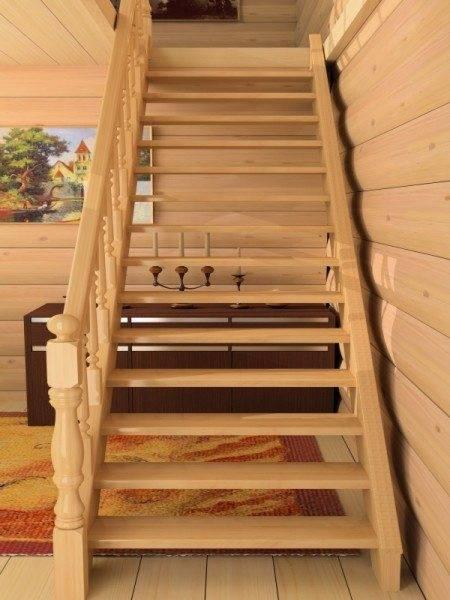 На фото описываемая лестница в интерьере.